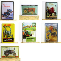Wholesale tin signs vintage cars for sale - Group buy LANZ Tractor Vintage Metal Painting Tin Signs Shabby Chic Tinplate Iron Art Wall Car Decorative Plate Mural Farm Garage Decorati SH190918