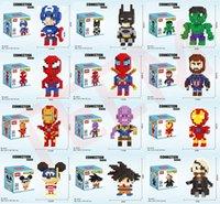 ingrosso i giocattoli dei bambini dei bambini-Nuovo super eroe mini figure giocattoli Thanos Big Hulk Wonder Woman Deadpool Logan Black Panther Dottor Strange vendicatore Building Blocks giocattolo per bambini