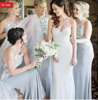 a7f6771487773 Wholesale amsale bridesmaid dresses online - Amsale Gorgeous Draped jewel  neck Beach Boho Long Bridesmaid Dresses