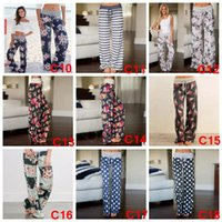 Wholesale Floral Print Sashes Lace Up Woman Wide Leg Pants Loose Casual Soft Trousers For Women Autumn Fashion Female Sweatpants