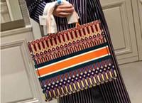 yüksek moda derisi toptan satış-Tuval deri yüksek kalite ünlü marka tasarımcısı lüks moda bayan casual tote omuz çantaları kadın çanta sıcak satış