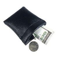 porta-moedas de metal venda por atacado-Titular da Chave do Cartão macio Moeda de Metal Fechamento de Mola Bolsa De Couro Bolsa Saco Bolsa de Presente Novo para Homens Mulheres