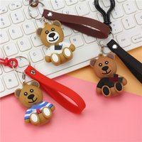Wholesale titanium bear jewelry for sale - Group buy 2019 Fashion and high quality Cartoon Bear Keychain Lovely Key Chain For Women Bag Charm Pendant Key Ring Gifts Jewelry keychain