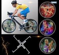 luz da noite de publicidade venda por atacado-FTL bicicleta rodas quentes luz 3D display noite equitação falou luzes bicicleta cauda luz LED publicidade 2 conjunto
