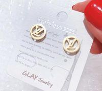 beste markenohrringe großhandel-Großhandelspreis Marken Schmuck Roségold Farbe vergoldet Designer Ohrringe für Frauen Luxus CZ Diamant beste Weihnachtsgeschenk für Damen 3351