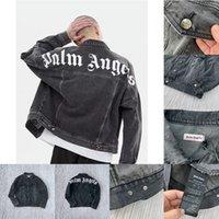 calça jeans venda por atacado-Palma Anjos 19ss jaqueta jeans Mens Mulheres Casual Streetwear Moda melhor qualidade Lavar casaco velho estilo Casacos Casacos Casacos vetements