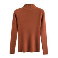 turtleneck kurzarmhemden großhandel-Marwin 2018 New kommenden Herbst Turtleneck Pullover Pullover Zündkapselhemd lange Ärmel Short koreanischen schmalere eng Pullover
