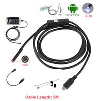 Wholesale led borescope for sale - Group buy 7 MM m Flexibel Snake Endoscope Camera MicroUSB Mini Camcorders Waterproof LED Borescope Inspection Camera For Android Loptope