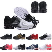 Wholesale famous sneakers men resale online - 2019 Shox Deliver Men Air Running Shoes Famous DELIVER OZ NZ Women Mens Black Red Sliver Blue Athletic Sneakers Sports