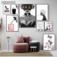 ingrosso arte pittura sexy-Moda Poster Stampa Sexy Tacchi alti Wall Art Magazine Cover Canvas Pittura profumo la casa della decorazione ragazze in camera pitture murali