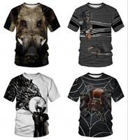 mais tamanho novidade t shirts venda por atacado-Novidade Animal Javali T Camisas Das Mulheres Dos Homens de Manga Curta Camiseta Homme Plus Size Verão Camisetas Hombre Dropship