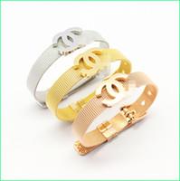 ingrosso braccialetti di modo migliori-C Il migliore braccialetto del progettista di vendita per le donne Adatti la qualità di qualità superiore per le signore Monili di lusso con oro RoseGold i colori d'argento Trasporto di goccia