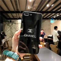 güzel telefon kapakları toptan satış-Güzel Lüks Kadınlar Tasarımcı Telefon Kılıfları Moda Kapak iphone X 7 Artı 8 P 7 8 6 P 6SP 6 6 S Mektup Marka Sıcak Satış Beyaz Siyah