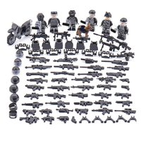 Wholesale military bricks toys resale online - 6pcs set Military Modern Guard Force Team Building Blocks Bricks Figures Models Toys Children Gift Toys