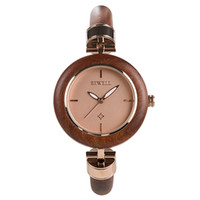 Wholesale wooden watch bewell resale online - BEWELL fashion Red women wooden watches with japan movement hardlex wood girls fashion wood watches wristwatches
