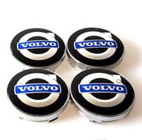 volvolegierungen groihandel-4 teile / satz 60mm legierung volvo radmitte kappen nabenabdeckung auto emblem abzeichen blau C30 C70 S40 V50 S60 V60 V70 S80