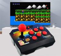 arcade stick para android al por mayor-Nuevas consolas de videojuegos de joystick retro de 16 bits con 145 juegos arcade ABS Consola Controlador Stick controlador AV Cable