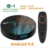 cajas receptoras al por mayor-HK1 MAX RK3318 Android 9.0 TV BOX 4K Youtube Google Assistant 4G 64G 3D Video TV receptor Wifi Play Store Smart Set top TV Box