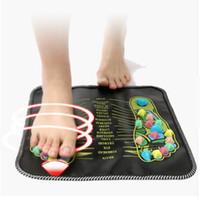 cojines para los pies al por mayor-La acupuntura de la venta caliente de adoquines de colores reflexología podal Paseo piedra cuadrada pie Massager del amortiguador para el Relax Cuerpo