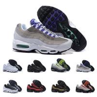zapatillas de colores al por mayor-Nike Air Max 95 Good Neon Men'running Shoes For Women Sneakers Sports 97 Designer Trainer Black White Colors Ventas calientes
