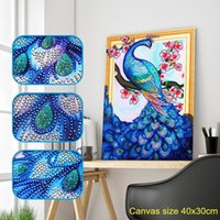 Wholesale cartoon cross stitch kit resale online - Special Shaped Diamond Painting Butterfly Peacock Wolf Owl Flower DIY D Partial Drill Cross Stitch Kits Crystal Rhinestone Arts