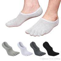 baumwoll-zehensocken verkauf großhandel-Hot-Sale-Sommer dünne versteckte fünf Finger Socken, flache Baumwollsocken für Männer, Zehensocken.