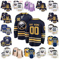 mulher jersey 23 venda por atacado-Personalizado Buffalo Sabres Jersey 9 Jack Eichel 23 Sam Reinhart 15 Jack Eichel 53 Jeff Skinner 90 Ryan O'Reilly Hóquei Jerseys Homens Mulheres Juventude