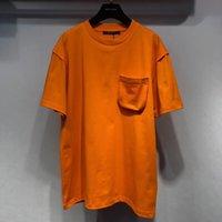 mens fasion venda por atacado-2019 Verão novo fasion mens camiseta Laranja camisetas DOS EUA ~ mens GRANDE SIGNIFICADO designer de manga curta camisetas
