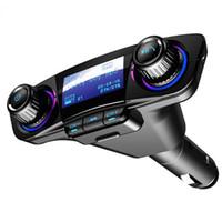 leitor de áudio em sequência venda por atacado-2.1a 2 usb carregador de carro universal usb adaptador de carregador de carro mp3 handsfree bluetooth para iphone x xr xs max galaxy huawei ipad car audio cd016