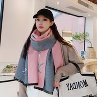 Wholesale big thick scarves resale online - Swallow style thick double sided imitation cashmere air conditioning room big shawl spring and summer women