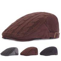 продажа вязаных беретов оптовых-Зимняя шапка мужчины вязание берет теплая передняя шляпа для пожилых мгновенная продажа через внешней торговли шляпы
