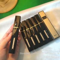 ölgemäldeflaschen großhandel-6ML Schwarz Kunststoff Lipgloss Flasche, Convenient Lip Gloss nachfüllbar Rohr, Leer Lippenfarbe Ölbehälter, Liquid Lipstick Package