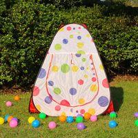 offenes dreieck großhandel-Blume Punkt Kinder Spiel Strand Dreieck Zelt Sommer Single Layer Game Zelt Quick Automatic Eröffnung Zelte für Kinder MMA2033