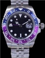 мужские фиолетовые часы оптовых-2019 новые роскошные мужские часы 2813 автоматические механические мужские часы сапфир пять бусин складные пряжки мужские 2 стиля оранжевый фиолетовый свободный корабль