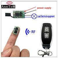 interruptor remoto inalámbrico de 9v al por mayor-Anntem RF 1CH Mini DC3.5V 9v a 12V 433mhz Controlador de interruptor de control remoto Módulo de control inalámbrico Módulo de interruptor de alimentación de batería