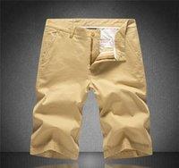pantalon décontracté kaki pour hommes achat en gros de-Mens Designer Shorts Summer Marque Pantalons en vrac Shorts Hommes piste pour kaki Pantalons simple de luxe marque Zipper avec des lettres Shorts