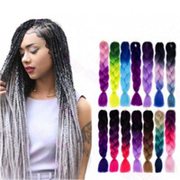 Wholesale quality ombre braiding hair for sale - Group buy 24 quot Ombre Dip Dye Kanekalon Jumbo Twist Braid Hair Extensions Best Quality Fiber