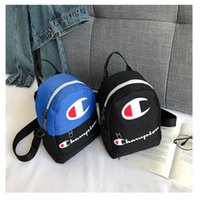 Wholesale ipad mini travel resale online - Mini Champions Letter Shoulder Bag Backpack Sports Travel Crossbody Waist bags Fashion Fanny Pack Letter Print Cute Women Rucksack C3194