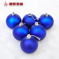 bolas de adornos de navidad azul al por mayor-6pcs de Navidad 6 ~ 8 cm Mate Blue Balls ornamentos de navidad de la decoración de la bola para el hogar regalo de Santa envío