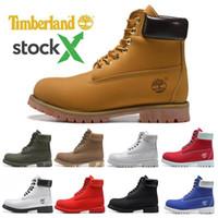 schneide schneeschuhe groihandel-Stock X luxury Timberland boots shoes Brand mens winter Snow boots womens men Military Triple White Black Camo Green sports sneakers