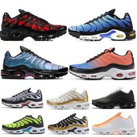 usa sizing großhandel-NIKE Air Max TN Plus tn Spiel Royal Orange USA Mandarine Minze Traubenvolt Hyper Violett Turnschuhe Sport Sneaker Herren Damen Designer Laufschuhe