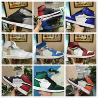Wholesale grey satin shoes resale online - 1 High OG Game Royal Banned Shadow Bred Toe NRG UNC White Men s Shattered Backboard Silver Medal Trainers Sneakers Off Basketball Shoes