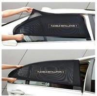cubierta de malla de luz al por mayor-2Pcs Car Window Cover Sombrilla Cortina UV Protección Shield Sunshade Shield Protector de ventana Window Car Accesorios universales (al por menor)