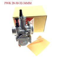 quad vergaser groihandel-Jingbin PWK28 PWK 28 30 32 34 mm Vergaser Motorrad ATV Buggy Quad Go-Kart-Schmutz-Fahrrad passen 2T 4T JOG DIO
