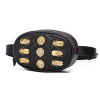 ingrosso borsa del cellulare del pu-Hardware Badge Luxury Leather Leather Pocket Fashion Cellphone Belt Waist bags Pettorina Fashion Designer Lady Elegant Chain Shoulder Bags