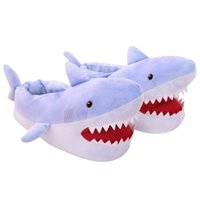 Wholesale animal house slippers for women resale online - Millffy Winter Super Animal Funny Shoes For Men and Women Warm Soft Bottom Home House Indoor Floor Shark Shape Furry Slippers Y200706
