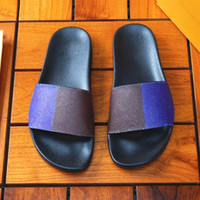 Wholesale crown home for sale - Group buy WATERFRONT Men Womens platfo Sandals fur ladie slippers Beach Slide Home Slippers Perfect Quality King Crown Italy Print Slipper White Black