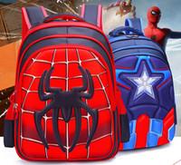 ingrosso zaini di anni-Zaino per bambini Captain America Spiderman Cartoon 1- 6 anni zaino scuola materna zaino per ragazzi 6-12 anni di età