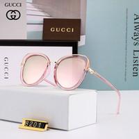 üst düzey güneş gözlüğü toptan satış-High-end marka geometrik güneş gözlüğü kadın erkek UV 400 lens güneş gözlüğü erkek alaşım çerçeve gözlük kutusu kahverengi kutu