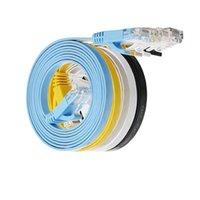 utp rj45 al por mayor-80m utp cable plano cable de seis interfaz GB RJ45 red plana cat6 0704